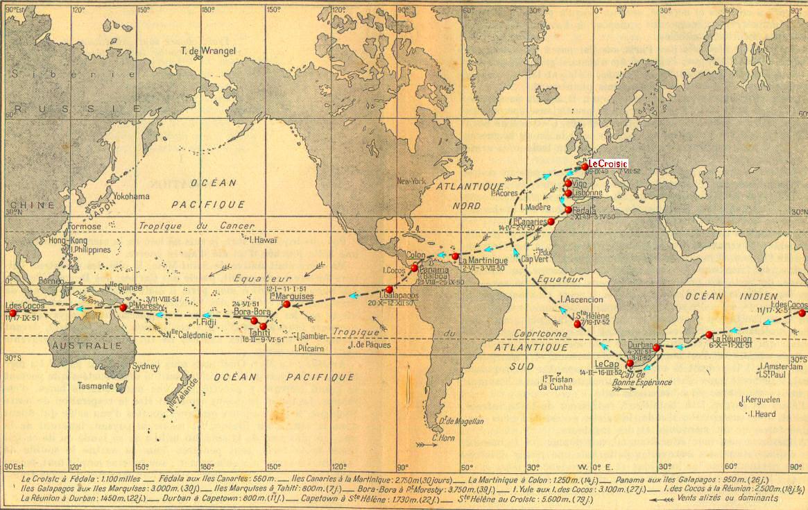 Ulmo   Cartes maritimes tour du monde Kurun Jacques Yves Le